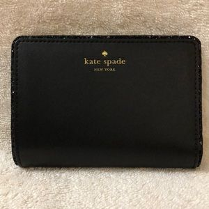 Kate Spade small black bifold wallet